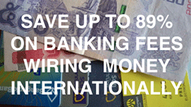 Save up to 89% on banking fees wiring money internationally