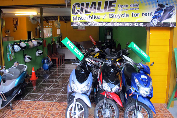 Chalie Motorbike & Bicycle for Rent