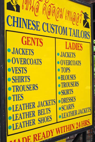 Chinese Custom Tailors