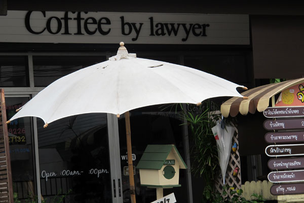 Coffee by lawyer