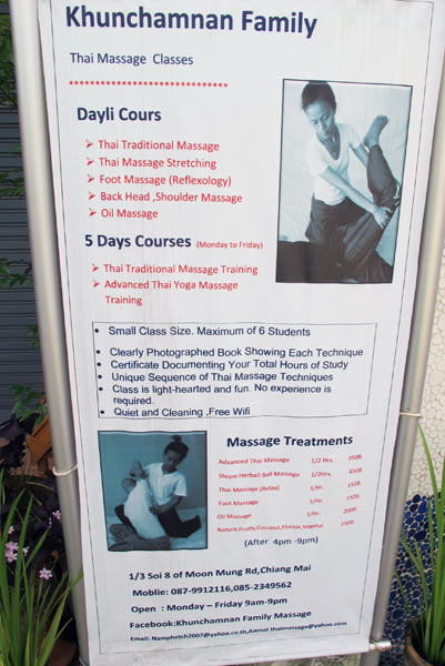 Khunchamnan Family Thai Massage Classes