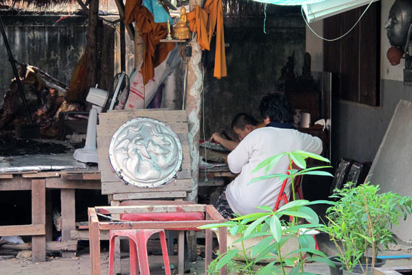 Local Silver Workshop @Wat Srisuphan