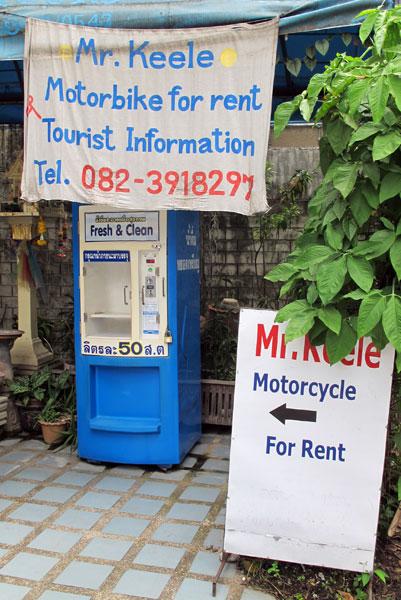 Mr. Keele Motorbike for Rent