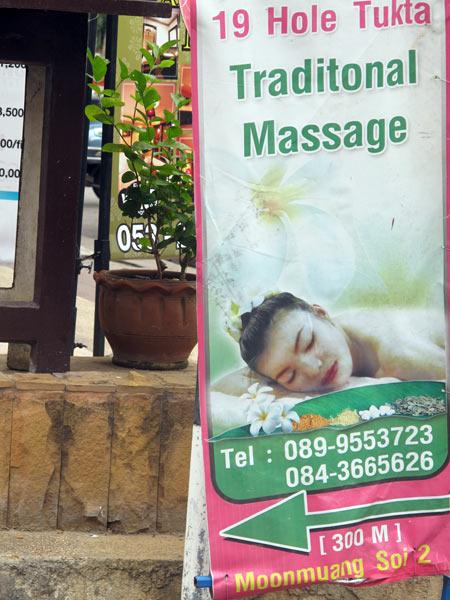 19 Hole Tukta Traditional Massage