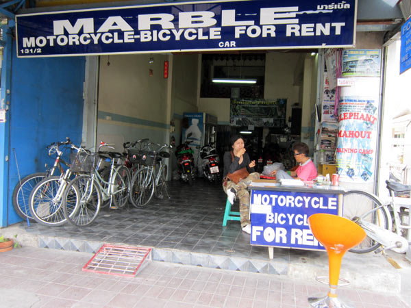 Marble Motorcycle-Bicycle for Rent