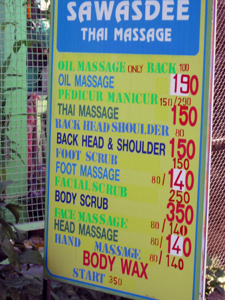 Sawasdee Thai Massage (Moon Muang Soi 6)
