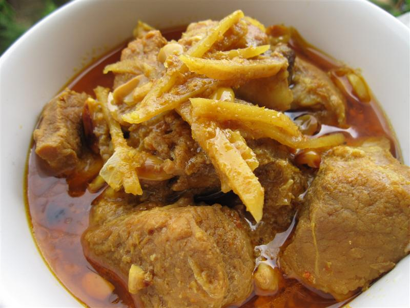 Burmese pork curry is a great stew that rivalles Western style stews ...