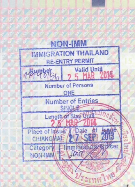 Further notes on Visa to Thailand