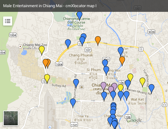 Overview Male Entertainment places in Chiang Mai