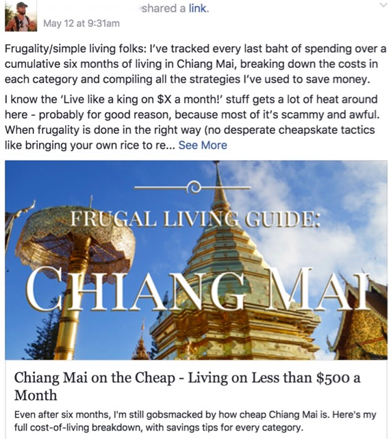 Frugal living guide - Chiang Mai on the cheap by Digital Nomads