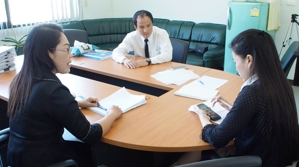 Interview with officials of the Chiang Mai Work Permit Office