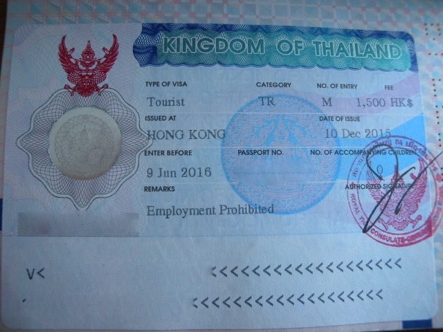 The new six months visa to Thailand - multiple entry tourist visa